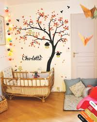 Tree Wall Decor For Nursery Tree Wall Decal Nursery Decor Mural Sticker Owls Nature