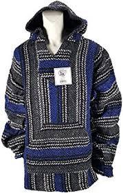 amazon com new baja hoodie original mexican drug rug 100