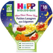 cuisine bebe 18 mois 1 assiette lasagnes aux légumes bio dès 18 mois 260gr hipp acheter