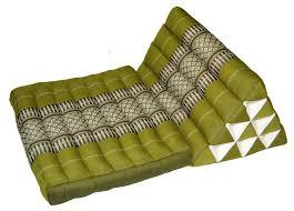 triangle pillow mat lime green kapok filled 12