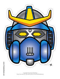 coloring dazzling robot mask template coloring robot