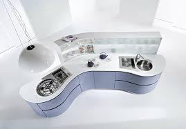 cuisine avec ilot central arrondi plan de travail arrondi cuisine cuisine design meuble arrondi with