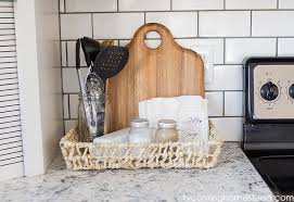 Countertop Organizer Kitchen Kitchen Countertop Organization Ideas Blooming Homestead