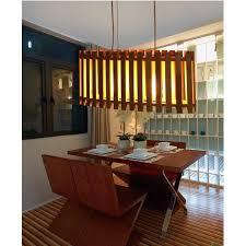 lustre bureau lustre bois design original ellipse géométrique en bois moderne