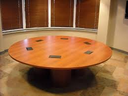 hand crafted 8 ft diameter laminate conference table by conference
