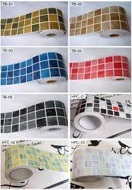 classical mosaic stickers vinyl waterproof waistline self adhesive