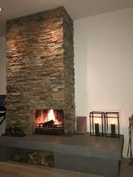 openhaard met steenstrips studio kustlijn pinterest fire