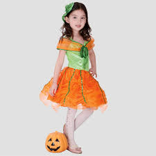 Pumpkin Princess Halloween Costume Shop Popular Girls Fancy Pumpkin Princess Dress Children