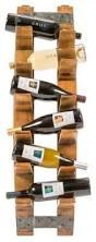 wine barrel wall mount wine rack farmhouse wine racks by