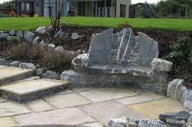 Natural Stone Benches Awe Inspiring Patios Made Of Stone