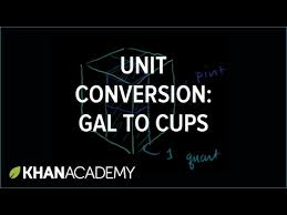 32 cups to gallons converting units us volume khan academy