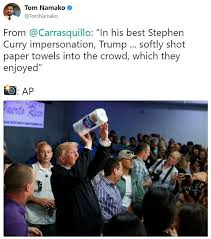 Paper Throwing Meme - donald trump s paper towel toss know your meme
