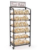 Bakers Rack With Wheels Grocery Store Displays Shelving Signs U0026 Fixtures