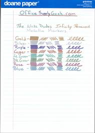 Writing On Graph Paper Write Dudes Metallic Markers Review Officesupplygeek