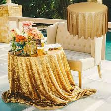 table ronde mariage 72 or sequin nappe table ronde tissu couverture de table de