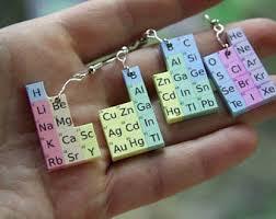 chemist earrings nerdy earrings periodic table earrings gift for