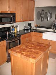 stunning butcher block countertops with edge grain style and face