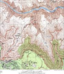 Grand Canyon National Park Map South Kaibab And Bright Angel Trails Grand Canyon Az