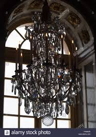 versailles chandelier crystal chandelier of the versailles palace mirror room stock