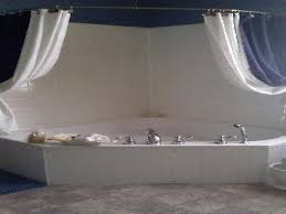 curtain corner tub shower curtain rod