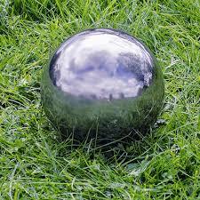 set of three stainless steel 9 13 18cm mirror finish sphere