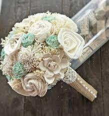 wedding flowers keepsake handmade wedding bouquet small ivory mint bridal