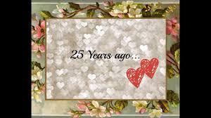Silver Anniversary Invitation Cards Mom U0026 Dad Silver Wedding Anniversary Invitation Youtube
