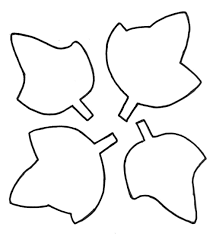 fall leaf outline clipart 61