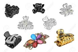 hair clip types set of eight different types of hair isolated on