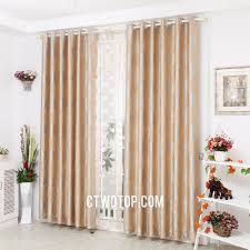 yellow modern simple toile home curtains with grommet top