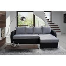 canape d angles pas cher canapé d angle convertible eddy gris et noir à petit prix