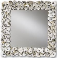oyster shell wall mirror square currey and company