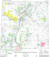 Where Is New Mexico On The Map by Resource Map 24 Mining Districts U0026 Prospect Areas In New Mexico