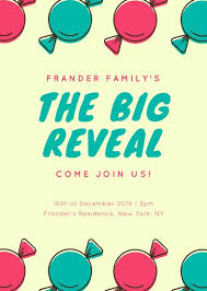 gender reveal announcement templates canva