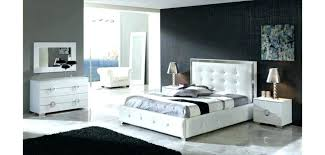 White Leather Bedroom Furniture Modern King Bedroom Set Modern Bedroom Furniture With Storage