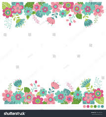 Wedding Wishes Designs Cute Flowers Border Vector Invitation Wedding Stock Vector