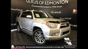 toyota lexus 2010 used silver 2010 toyota 4runner sr5 walkaround review cold lake