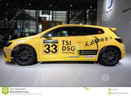 volkswagen china volkswagen scirocco cup china edition editorial image image