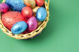 easter egg basket egg basket with copyspace creative commons stock image