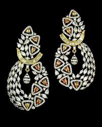 online earrings contemporary gold plated cubic zirconia white handcrafted earrings