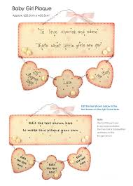Baby Plaques Personalized Baby Gift Personalised Plaque Wooden Pink Gift Ideas