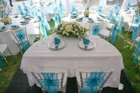 aqua blue and silver wedding decorations 7847