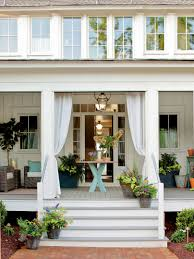 cool hanging black flower pots for your front porch decorating