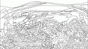 coloring pages for landscapes coloring page adult landscape by valentin fearsome pages landscapes