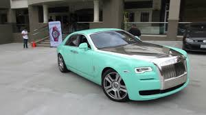 roll royce qatar 755 hp tiffany blue rolls royce ghost youtube