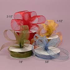 sheer organza ribbon sheer organza wired ribbon 1 1 2 royal navy or smoke blue at