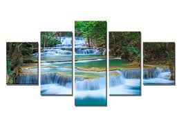 waterfall home decor s746 canvas print for living room decoration framed stretched