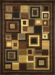 home dynamix catalina black brown tan area rug 5x8 living room den