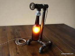 industrial brewery lamp bottle lighting steampunk fixture