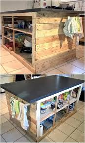 Kitchen Island With Drawers Best 20 Pallet Kitchen Island Ideas On Pinterest Pallet Island